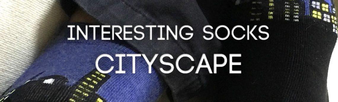 Interesting socks cityscape!
