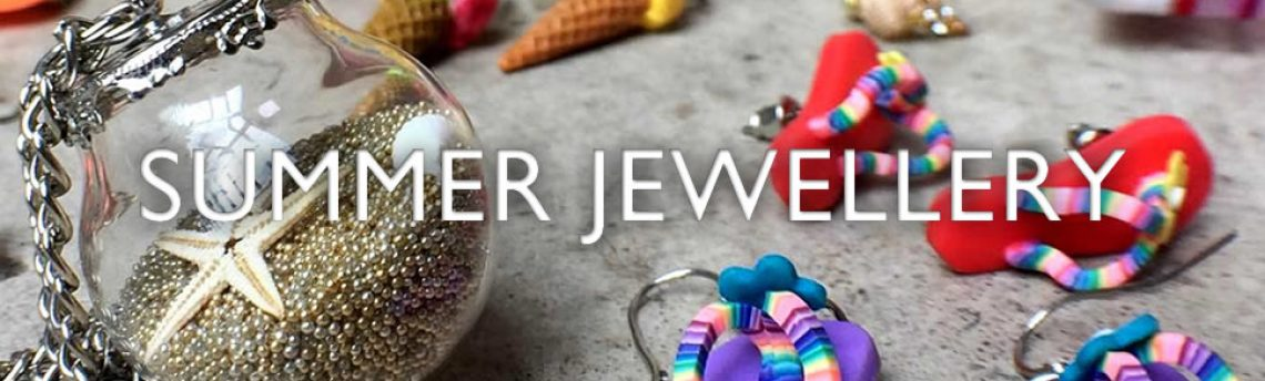Beach wear with a difference – summer jewellery.