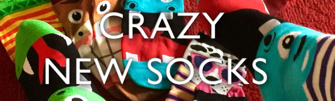 Crazy new socks – mean more foot fun.