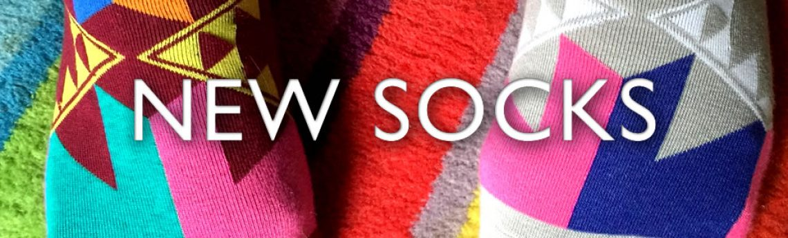 Super new socks  – abstract aztec to amazing american