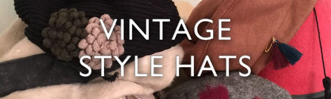 Vintage style hats in fabulous fabrics for year round style.