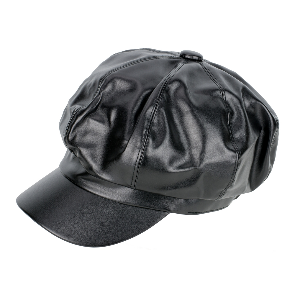 Wholesale Shop for Hat Black Baker Boy Made With Faux Leather ... d2a99b01b96